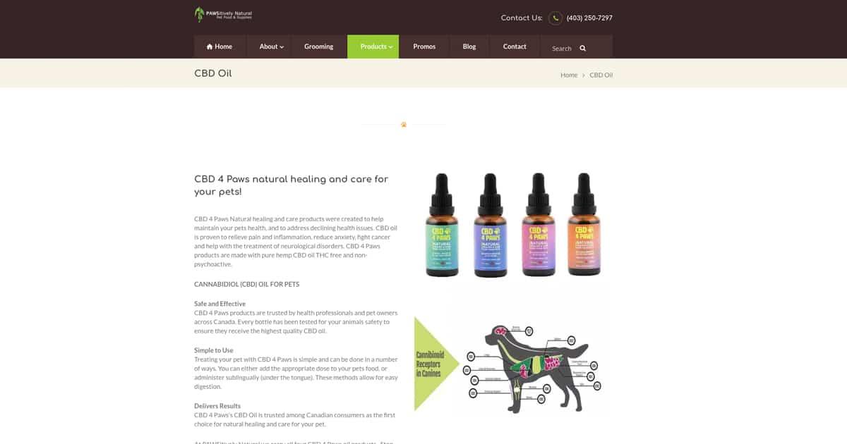 CBD Oil   Pawsitively Natural Pet Food & Supplies